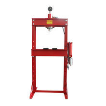 Workshop press 30T, pneumatic-hydraulic with pressure gauge