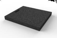 Gumová výplňová podložka 530x470x50 mm