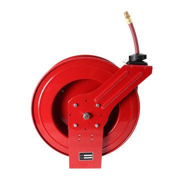 Otevřený samonavíjecí buben s hadicí 15m pro vzduch a vodu  - 1