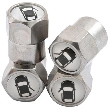 Souprava kovových čepiček s označením pozice kola