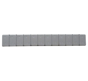 Samolepící závaží Fe 2,5-300 nízké šedý lak