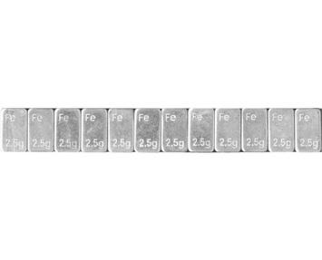 Samolepící závaží Fe 2,5-100 nízké pozinkované