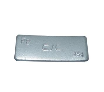 Samolepící závaží FEC 25 g - šedý lak