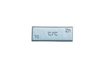 Zinkové samolepící závaží ZNC 10g - šedý lak