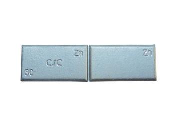 Zinkové samolepící závaží ZNC 30g - šedý lak