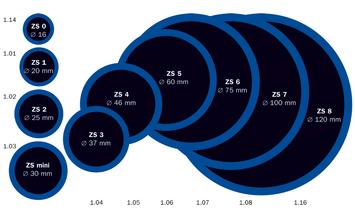 Záplata ZS 4 na opravu duší - průměr 46 mm - 2