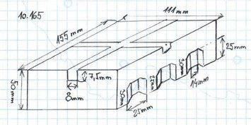 Gumová podložka zvedáku 155x111x50 mm - 2