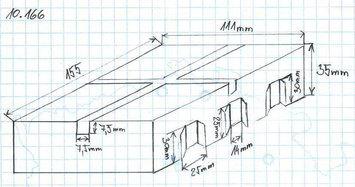 Gumová podložka zvedáku 155x111x35 mm - 2