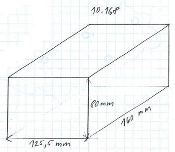 Gumová podložka zvedáku 160x125x80 mm - 2