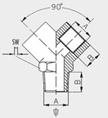 """Y-šroubení GAV - 1260/2 - 1/4"""" - 2"""