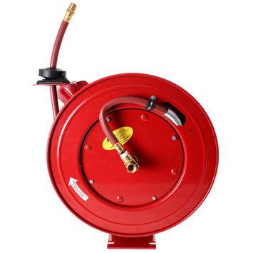 Otevřený samonavíjecí buben s hadicí 15m pro vzduch a vodu  - 2