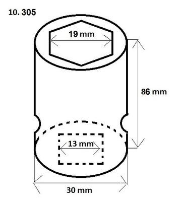 """Ořech 1/2"""" 19 mm s plastovým krytem - 2"""
