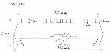 Gumová podložka zvedáku 125 x 23 mm s límcem - 2