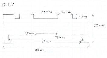 Gumová podložka zvedáku 100 x 23 mm s límcem - 2