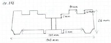 Gumová podložka zvedáku 143 x 26 mm - 2