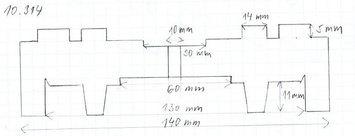 Gumová podložka zvedáku 140 x 30 mm - 2