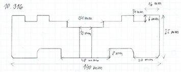 Gumová podložka zvedáku 140 x 25 mm - 2