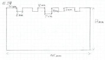 Gumová podložka zvedáku 145 x 67 mm - 2