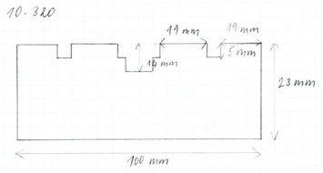 Gumová podložka zvedáku 100 x 23 mm - 2