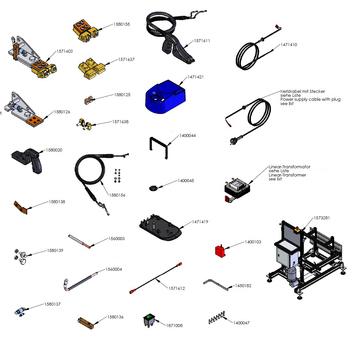 Hlavní vypínač k prořezávačce RILLFIT SIX - 2