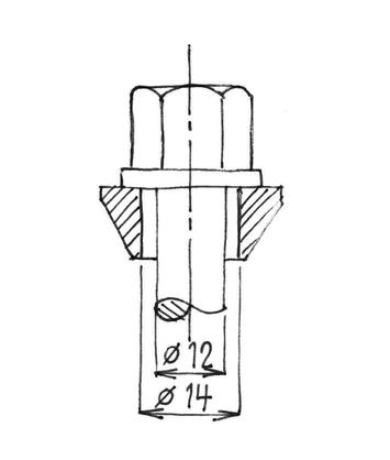 Plovoucí šroub pro disky M12x1,5 L31 kužel - 2
