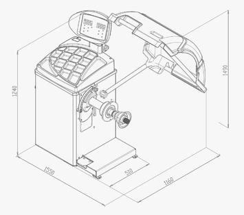 Vyvažovačka CB67 Automat 2D - 2