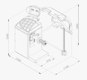 Vyvažovačka CB68 Automat 3D - 2