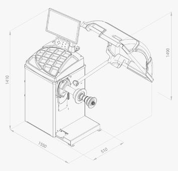 Vyvažovačka CB75 Automat 2D s LCD displejem - 2
