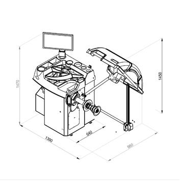 Vyvažovačka CB78 Automat 3D s dotykovým  displejem - 2