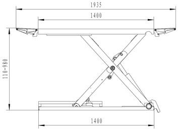 Nůžkový zvedák SF-L3000 - 2
