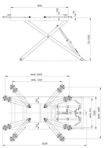 Nůžkový zvedák SF-K2800V2 - 2