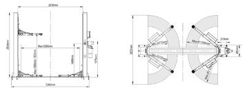 Dvousloupový zvedák SF-BS4000 - 2