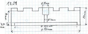 Gumová podložka zvedáku 120x17 mm - 2