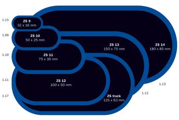 Záplata ZS 6 na opravu duší - průměr 75 mm - 3