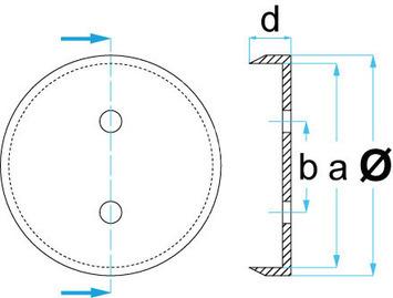 Gumová podložka zvedáku 125x24 mm - 3