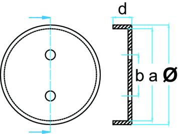 Gumová podložka zvedáku 120x32 mm - 3