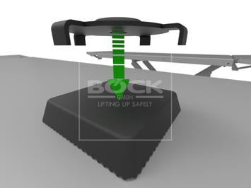 Adaptér pro zvedání aut modelu Tesla 3 - větší velikost - 3