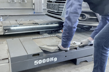Gumová výplňová podložka 530x470x50 mm - 3