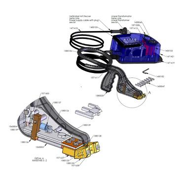 Hlavní vypínač k prořezávačce RILLFIT SIX - 3