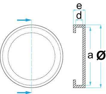 Gumová podložka zvedáku 126x24 mm - 3