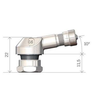 Bezdušový ventil MOTO 11,3 stříbrný - 3