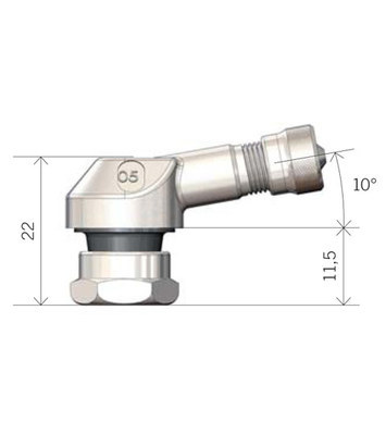 Bezdušový ventil MOTO 11,3 červený - 3