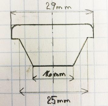Plovoucí šroub pro disky M12x1,5 L31 kužel - 3