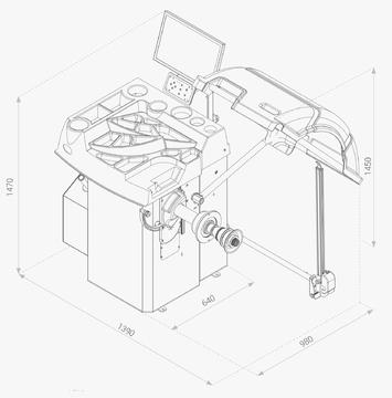 Vyvažovačka CB76 Automat 3D - 3