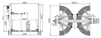 Dvousloupový zvedák SF-B4000ES - 3