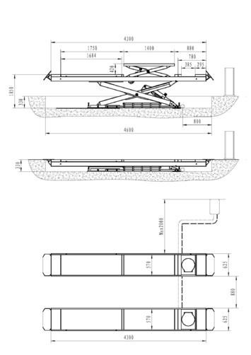 Nůžkový zvedák pro geometrii SF-H4000 - 3