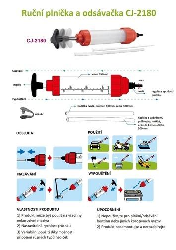 Ruční plnička a odsávačka CJ-2180 - 3