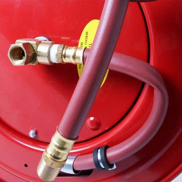 Otevřený samonavíjecí buben s hadicí 15m pro vzduch a vodu  - 5