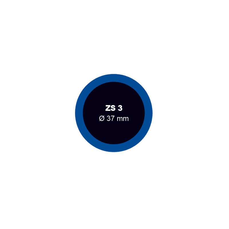 Záplata ZS 3 na opravu duší - průměr 37 mm