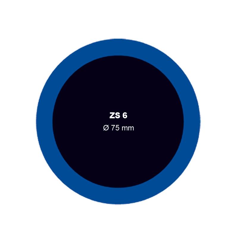 Záplata ZS 6 na opravu duší - průměr 75 mm